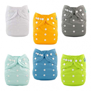 Alvababy Cloth Adjustable Diapers for Boys and Girls