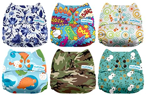Mama Koala One Size Reusable Pocket Cloth Diapers