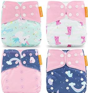 HahaGo 4PCS Baby Cloth Diaper