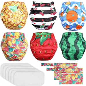 Lictin 6 Pack Baby Cloth Diapers